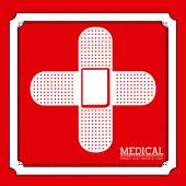 Medical design over red background vector illustration