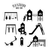 Playground design over white background vector illustration