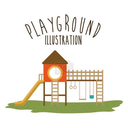 Playground design, vector illustration.