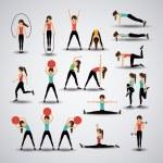 Fitness design over gray background, vector illust...
