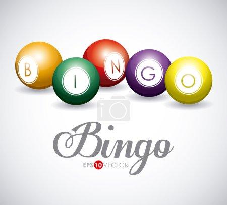 Illustration pour Conception de bingo sur fond blanc, illustration vectorielle . - image libre de droit