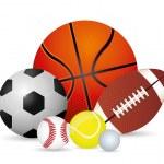 Sport design over white background, vector illustr...