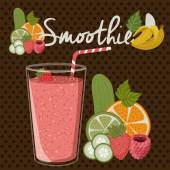 Smoothie design over pointed background vector illustration