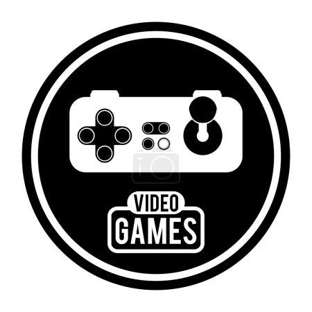 Illustration pour Conception de jeux vidéo sur fond blanc, illustration vectorielle - image libre de droit