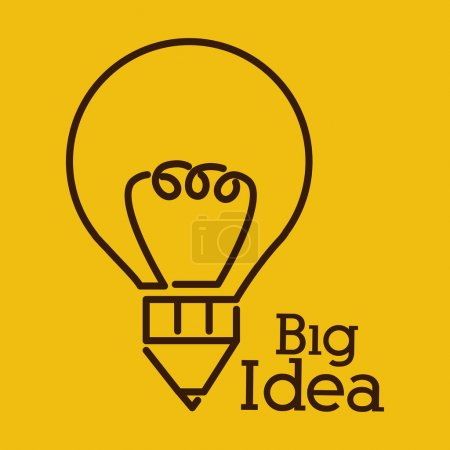 Illustration for Big idea digital design, vector illustration eps 10 - Royalty Free Image