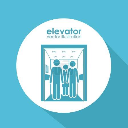Elevator digital design, vector illustration eps 1...