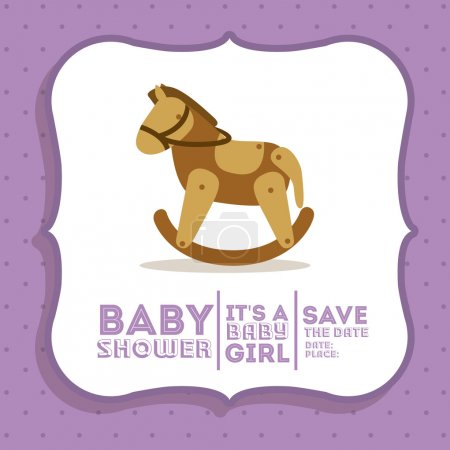 Baby shower concept, welcome to the birth icons de...