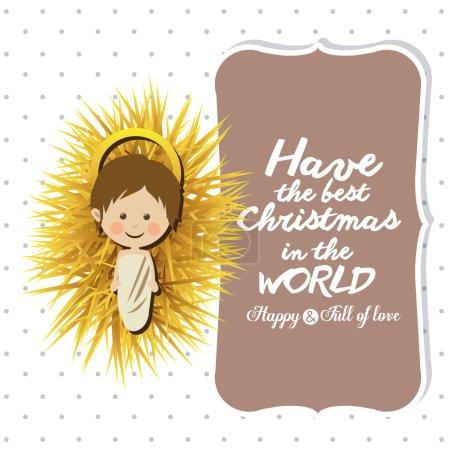 Illustration pour Joyeux Noël concept avec la conception des icônes de décoration, illustration vectorielle eps 10 - image libre de droit