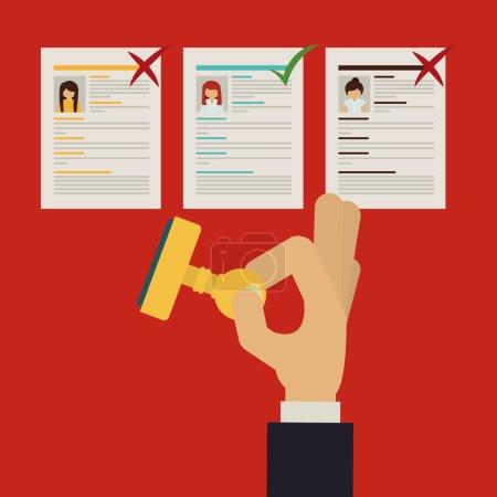 Illustration pour Embauché pour la conception de l'emploi, illustration vectorielle eps10 graphique - image libre de droit