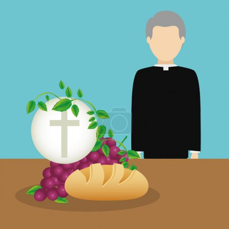 Illustration pour Conception de religion catholique, illustration vectorielle eps10 graphique - image libre de droit