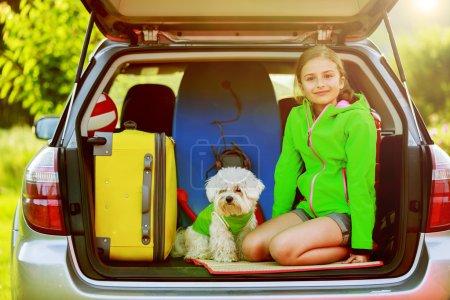 vacances d'été, voyage - famille prêt pour le voyage pour l'été