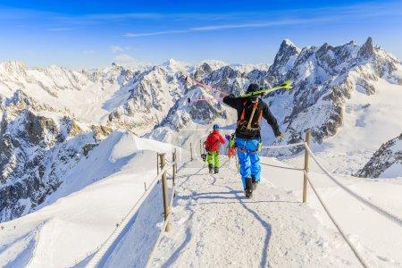 Freeriders, Aiguille du Midi, French Alps