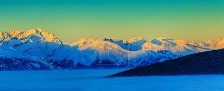 Thyon 4 Valleys, Swiss Alps - panorama