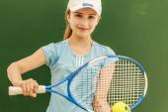 Tenisz - szép, fiatal lány teniszező
