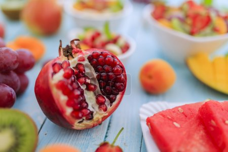 Fruits  - diet, healthy breakfast, weight loss concept
