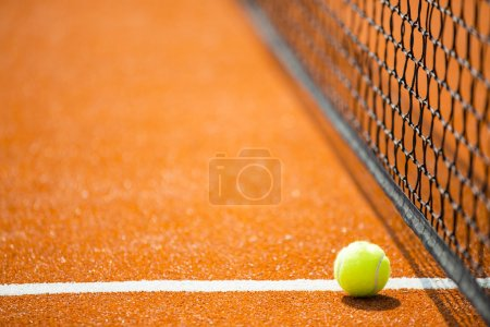 Tennis - tennis ball on a tennis court