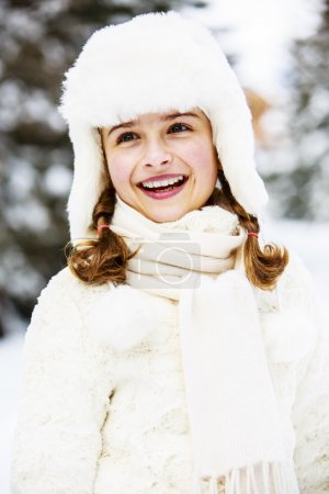 girl enjoying winter