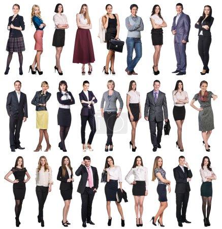 Photo pour Grand ensemble différents des gens d'affaires isolés sur blanc - image libre de droit