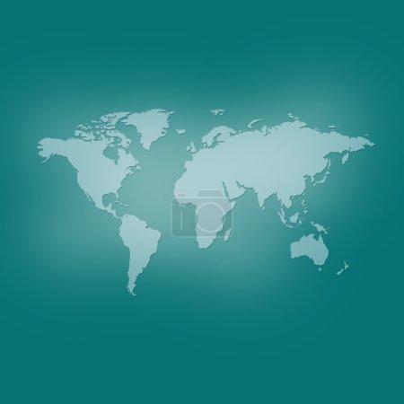 Photo pour Image carte du monde. Fond vert - image libre de droit