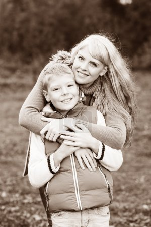 Photo for Happy mother hugging her little son. Family idyll concept - Royalty Free Image