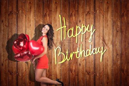 Young girl celebrate happy birthday.