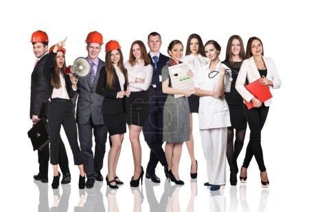 Photo pour Groupe de gens d'affaires sur fond blanc - image libre de droit