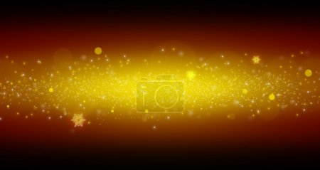 Bright yellow dust. Sparkle and flash