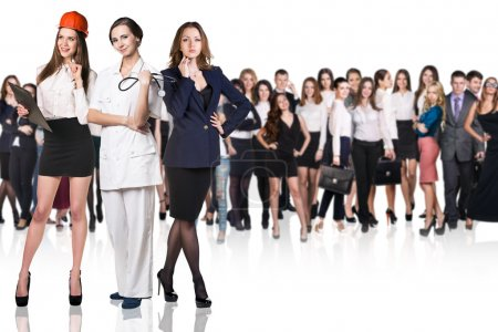 Successful business women of different professions