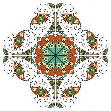 Colorful ethnic pattern. Vector element for design...