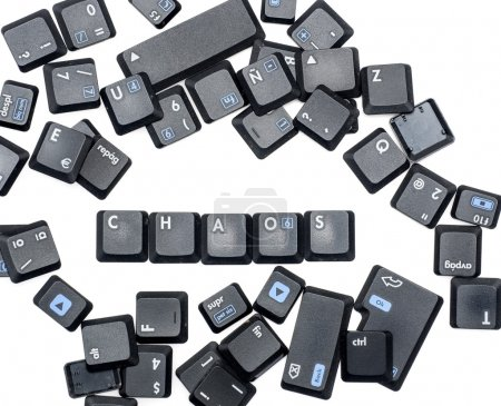 Photo for Chaos word with a laptop keys - Royalty Free Image