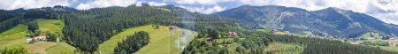 Bizkaia valley panoramic view