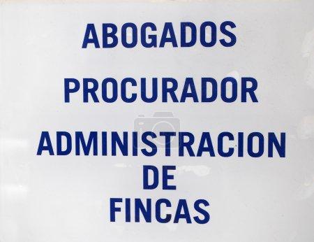 Foto de Placa de abogados y administradores en la puerta - Imagen libre de derechos