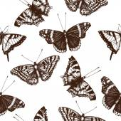 Vintage pattern with butterflies