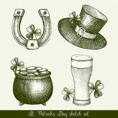 Vintage sada St. Patricks Day