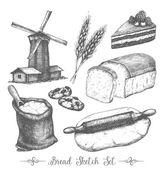 Vintage bakery sketch