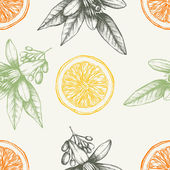 Vintage citrus background