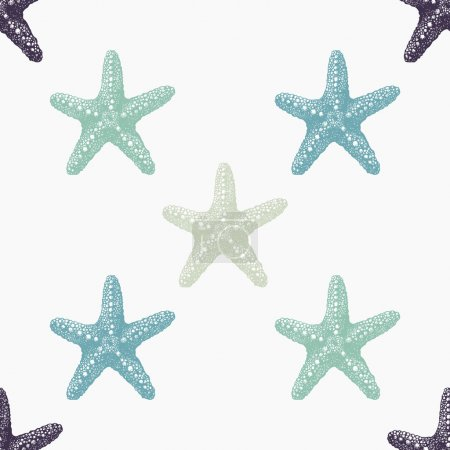 Sea stars sketch pattern