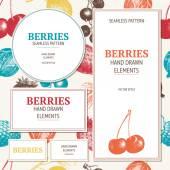 Vintage divoké a zahradní jahody