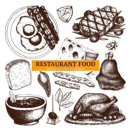 Restaurant or cafe menu