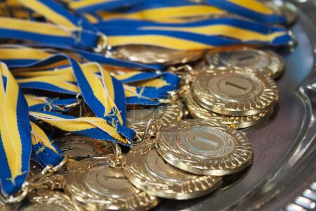 Gold medals for first place