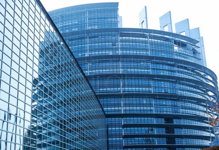 Photo for Facade of the European Parliament building in Strasbourg, France - Royalty Free Image