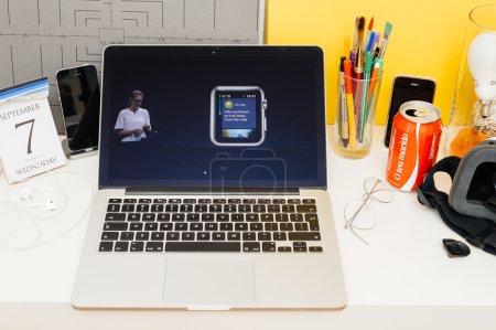 Apple Computers website showcasing
