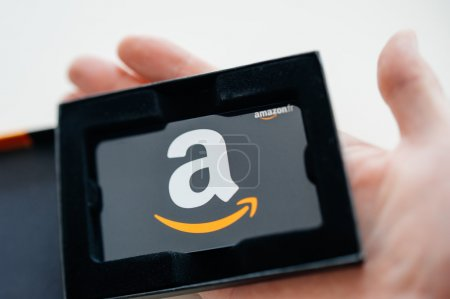 Amazon Gift Card in man hand