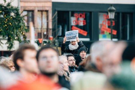 Mass unity rally held in Strasbourg following recent terrorist a