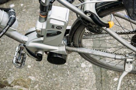 Electric bike motor detail
