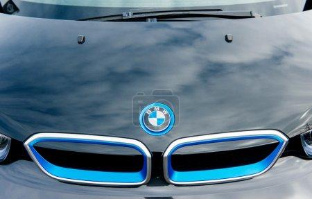 BMW electric car front radiator logo
