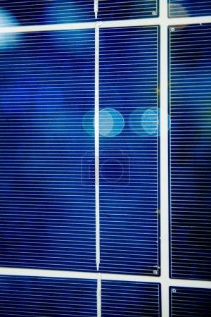 Solar pannel battery close-up details
