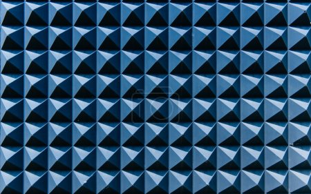 Blue abstraction on a modern wall