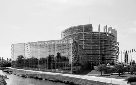 Photo for European parliament building - uropean Parliament in Strasbourg - Royalty Free Image