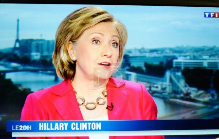 Hilary Clinton on national French television channel TF